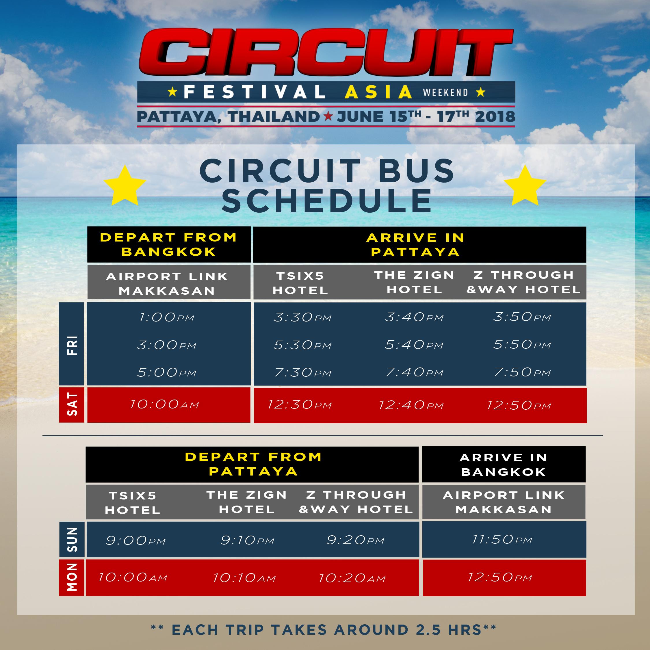 Circuit Bus Schedule