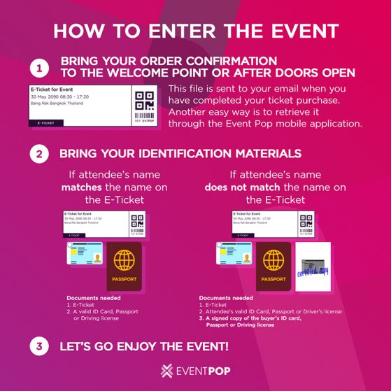 How to Enter by E-Ticket (EN)